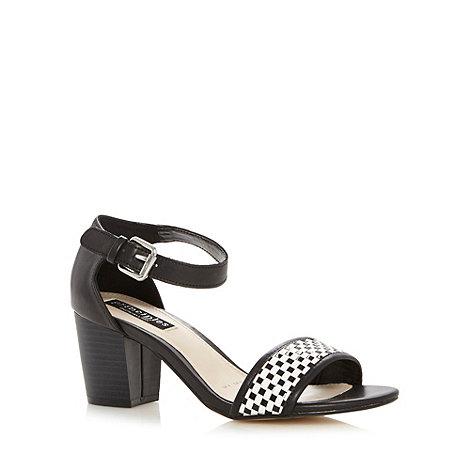 Principles by Ben de Lisi - Designer black weave block heel sandals