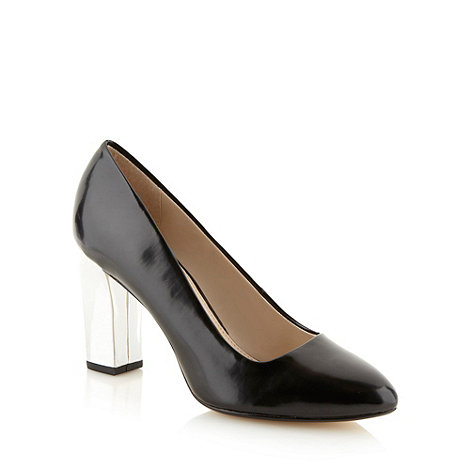 Principles by Ben de Lisi - Designer black high metallic heel court shoes
