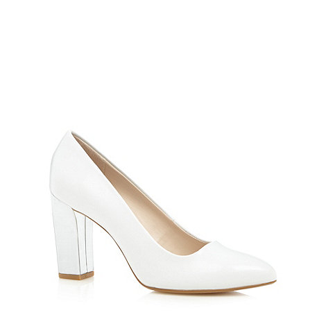 Principles by Ben de Lisi - Designer white metallic heel high court shoes