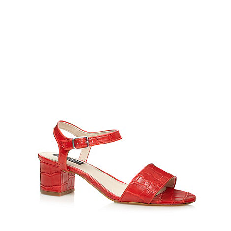 Principles by Ben de Lisi - Designer red mock croc mid sandals