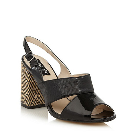 Principles by Ben de Lisi - Designer black weave block heel sandals