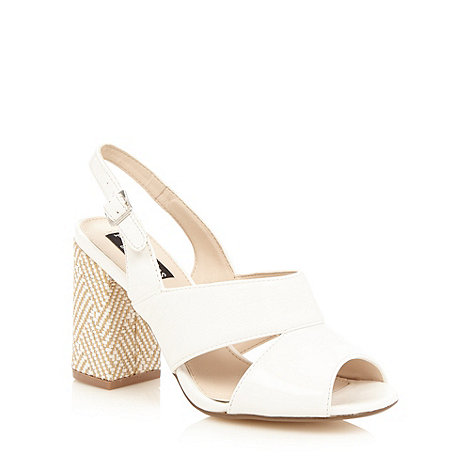 Principles by Ben de Lisi - Designer white woven block heel sandals