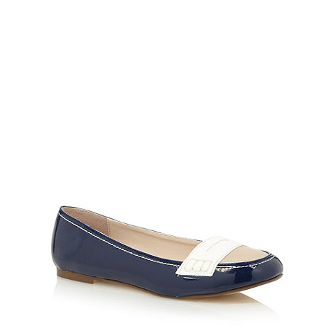 Principles by Ben de Lisi - Designer navy colour block patent loafers