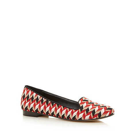 Principles by Ben de Lisi - Designer red geometric patterned pumps