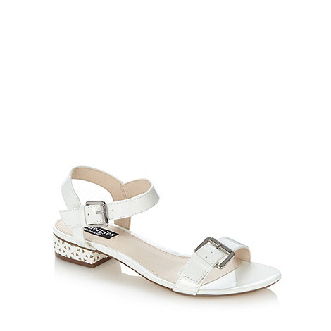 Principles by Ben de Lisi - Designer white low laser cut heel sandals