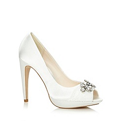 No. 1 Jenny Packham - Designer ivory lace and jewel trim high court shoes