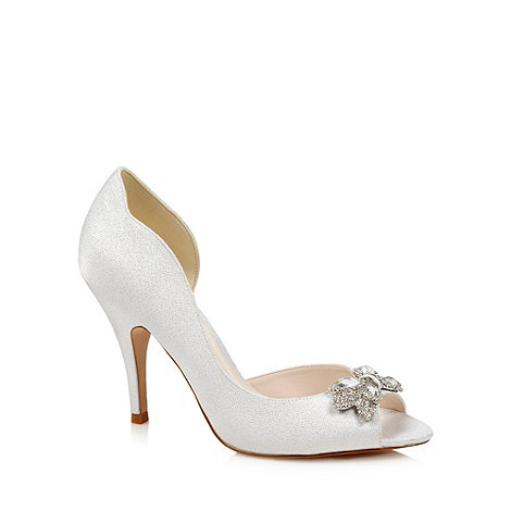 No. 1 Jenny Packham - Designer silver jewel high court shoes