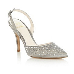 No. 1 Jenny Packham - Silver 'Leigha' embellished court shoes