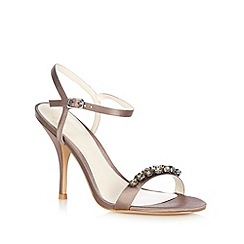 No. 1 Jenny Packham - Silver ' Leon' jewel strap heeled sandals