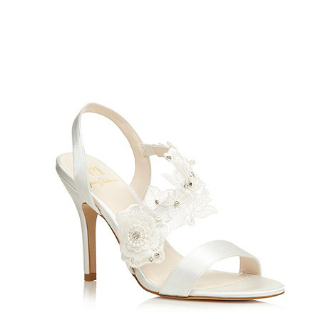 No. 1 Jenny Packham - Designer ivory lace detail heeled sandals