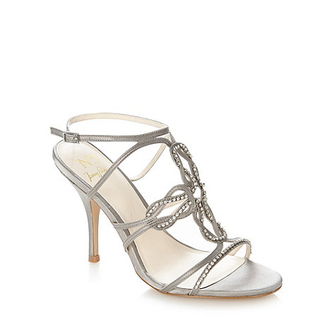 No. 1 Jenny Packham - Designer silver strap heeled sandals
