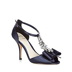 No. 1 Jenny Packham - Navy 'Louella' jewel bow sandals