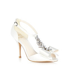 No. 1 Jenny Packham - Ivory 'Louella' jewel bow sandals