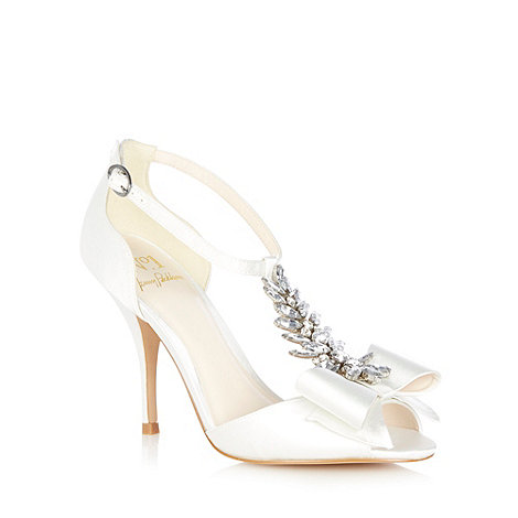 No. 1 Jenny Packham - Ivory +Louella+ jewel bow sandals