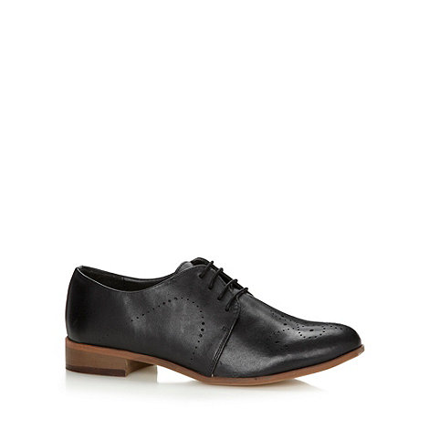 Betty Jackson.Black - Designer black leather brogues