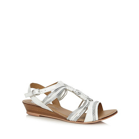 Butterfly by Matthew Williamson - Designer white swirl low wedge heel sandals