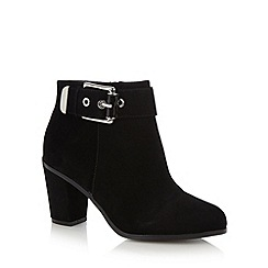 Principles by Ben de Lisi - Designer black buckle high heel ankle boots