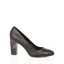 Principles by Ben de Lisi - Designer black snake high court shoes