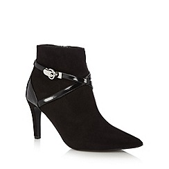 Principles by Ben de Lisi - Designer black high heel buckle strap ankle boots