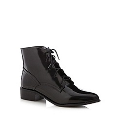 H! by Henry Holland - Designer black lace up ankle boots