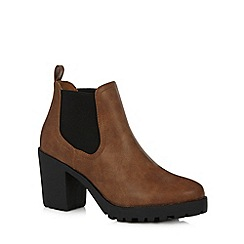 H! by Henry Holland - Designer tan high heel ankle boots