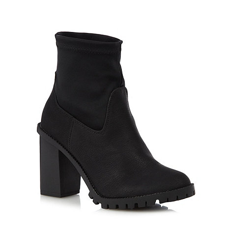 H! by Henry Holland - Designer black panel high ankle boots