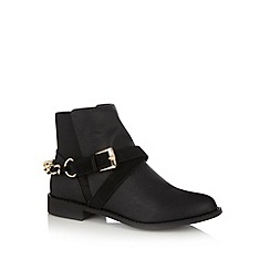 Floozie by Frost French - Black buckle low ankle boots