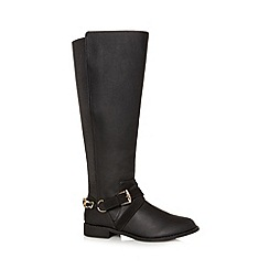 Floozie by Frost French - Designer black chain trim knee length boots