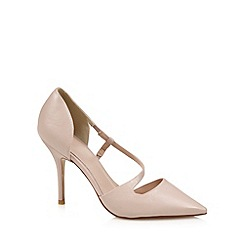 J by Jasper Conran - Designer light pink leather sling strap court shoes