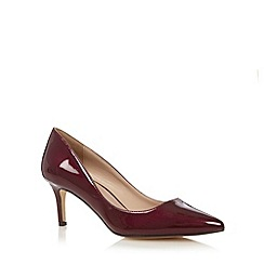 J by Jasper Conran - Designer dark red patent pointed toe court shoes