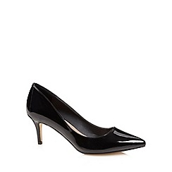 J by Jasper Conran - Designer black patent pointed toe court shoes