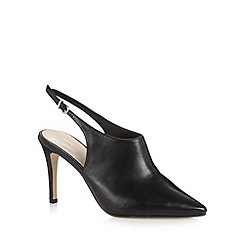 J by Jasper Conran - Designer black leather slingback high court shoes