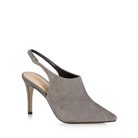 J by Jasper Conran - Designer grey suede slingback high court shoes