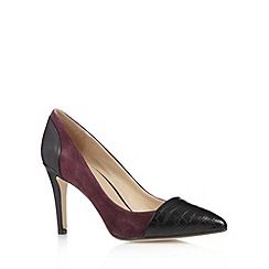 J by Jasper Conran - Designer purple leather toe cap high heel court shoes