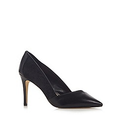 J by Jasper Conran - Designer black leather pointed toe high court shoes