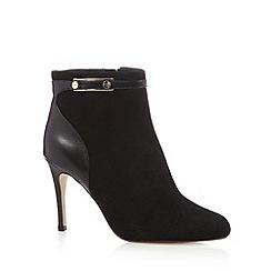 J by Jasper Conran - Designer black stud strap high ankle boots