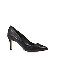 J by Jasper Conran - Designer navy punched high court shoes