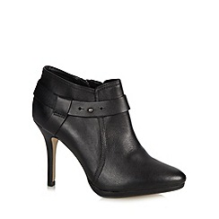 J by Jasper Conran - Designer black leather stud strap high ankle boots