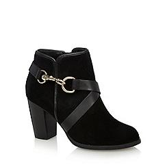 J by Jasper Conran - Designer black suede clip detail high ankle boots