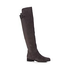 J by Jasper Conran - Designer grey suede stretch back high leg boots
