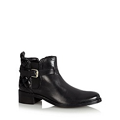 J by Jasper Conran - Designer black leather quilted chelsea boots