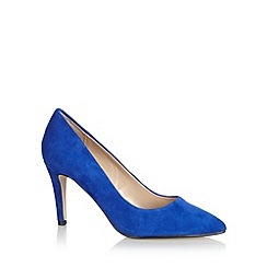 J by Jasper Conran - Designer bright blue suede high court shoes