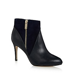 J by Jasper Conran - Designer navy leather zip detail high ankle boots