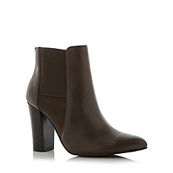 Betty Jackson.Black - Designer grey leather panel high heel ankle boots