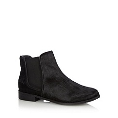 Betty Jackson.Black - Designer black pony hair chelsea boots
