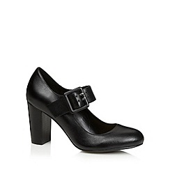 RJR.John Rocha - Designer black leather buckle detail high court shoes