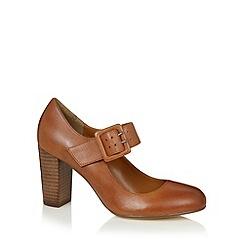 RJR.John Rocha - Designer tan leather buckle detail high court shoes