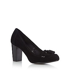 RJR.John Rocha - Designer black suede tassel detail high court shoes