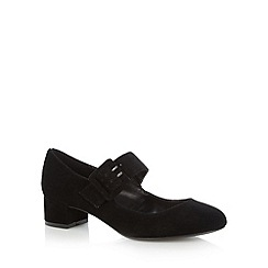 RJR.John Rocha - Designer black leather block heel mary jane shoes