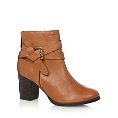 RJR.John Rocha - Designer tan leather knotted strap high ankle boots